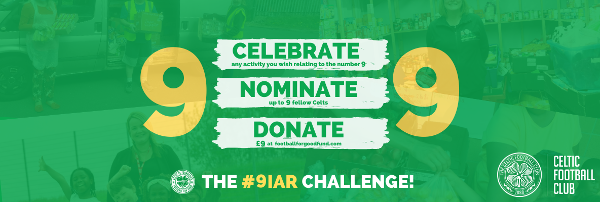 Join in on the 9-in-a-row challenge for the Football for Good Fund
